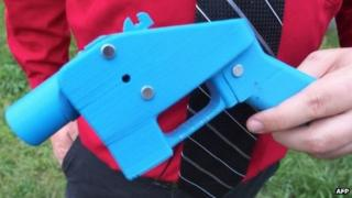 Close-up view of the Liberator pistol in the hands of software engineer Travis Lerol 11 July 2013