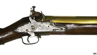 Detail of the blunderbuss