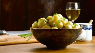 A bowl of Pembrokeshire Early Potatoes