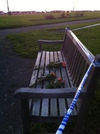 Tributes on bench near scene of Thorpe Bay fire deaths