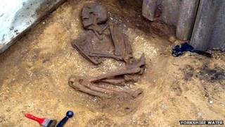Skeleton found in a sewer in Norton, North Yorkshire