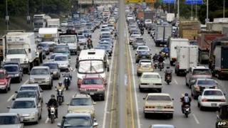 Traffic in Caracas