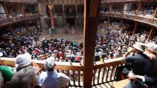 Scene at Shakespeare's Globe