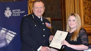 BTP Chief Constable Andrew Trotter and Emily McLeod