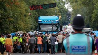 Anti-fracking protests in Balcombe