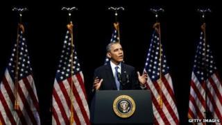 US President Barack Obama appeared in Washington DC on 4 December 2013