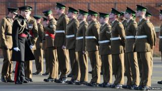 Prince William presents medals to the Irish Guards