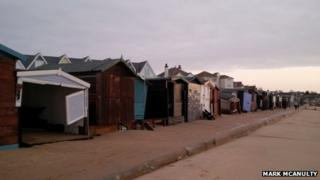 Beach huts at Walton-on-the-Naze