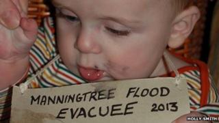 Baby evacuee