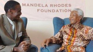 Pie-Pacifique Kabalira-Uwase meeting Nelson Mandela