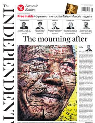 Independent front page 7/12/13