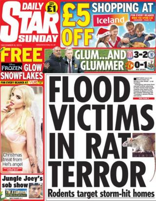 Daily Star Sunday front page 8/12/13