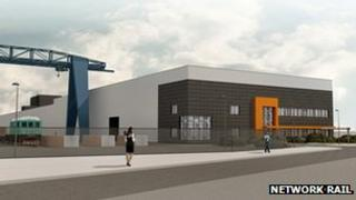 Artist's impression of Doncaster sleeper factory