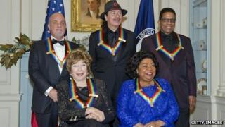 Billy Joel, Shirley MacLaine, Carlos Santana, Martina Arroyo and Herbie Hancock