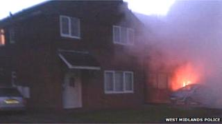 Speedwell Road house on fire