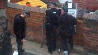 Police at scene of dog attack
