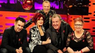Graham Norton with his guests on the 29 November - Colin Farrell, Sharon Osbourne, Jeremy Clarkson and Jo Brand