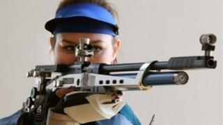 Shooter Jennifer McIntosh after being selected to represent Scotland at next years Commonwealth Games