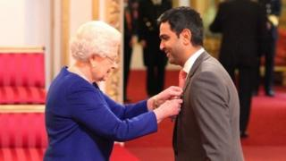 The Queen appoints Wasim Khan an MBE