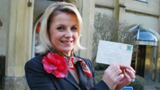 Eva Neupauer-Jones, Missenden Abbey with envelope