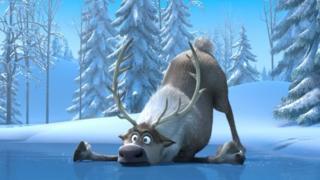 A scene from Frozen