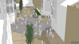 Artist impression of St Peter's Cross project