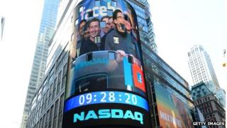 Nasdaq exterior with Mark Zuckerberg