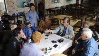 File photo: A group of elderly people in China