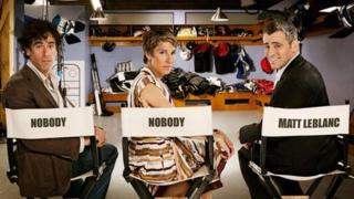 Stephen Mangan, Tamsin Greig and Matt LeBlanc in Episodes