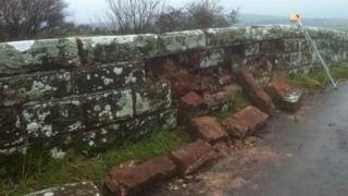 damage to the bridge