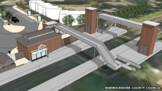 Kenilworth railway station artist's impression