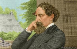 Illustration of Charles Dickens