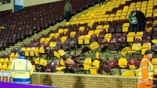 Broken seats at Fir Park