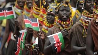 Dancers in Nairobi (December 2012)