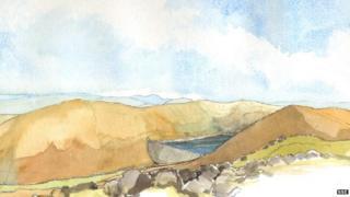Visualisation of Coire Glas dam