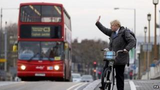 Boris Johnson on Wandsworth Bridge