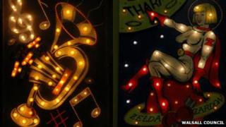 Walsall illuminations light boards