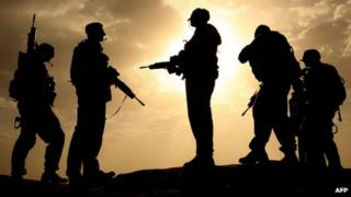 British soldiers pictured in Helmand province