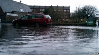 Flooding in the west end of Glasgow