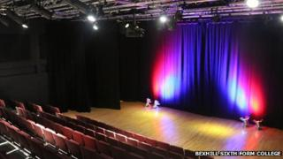New theatre at Bexhill 6th form college