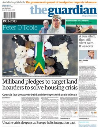 Guardian front page 16/12/13