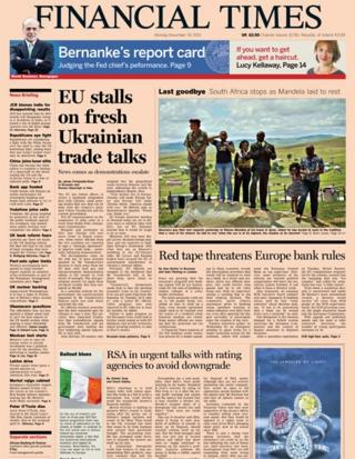 Financial Times front page 16/12/13