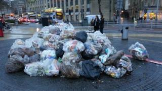 Litter piled up in St Augustine's Parade