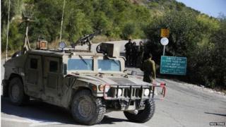 Israeli troops near Rosh Hanikra border crossing with Lebanon (16/12/13)