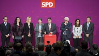 Social Democratic Party, SPD, designated ministers in the new German government