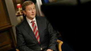 Enda Kenny before addressing the Irish nation
