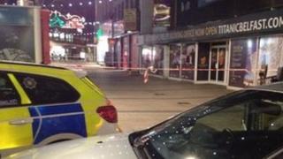 Scene of the police operation in Belfast