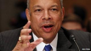 Jeh Johnson testifies before the Senate Homeland Security and Governmental Affairs Committee confirmation hearing on his nomination to be the Homeland Security Secretary on Capitol Hill in 13 November 2013