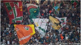 Fluminense football club fans in Rio de Janeiro