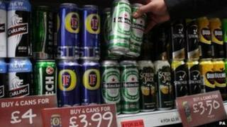 Beer on shelves